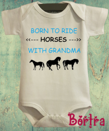 Born to ride horses with Grandma