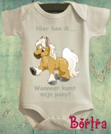 Wanneer komt mijn pony