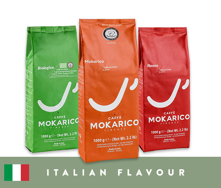 Mokarico Italian Flavour - 3 x 1kg koffiebonen