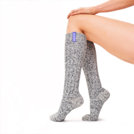 SOXS - Knee High - Grey Wool with Lavender Label (Woman's)  37-41