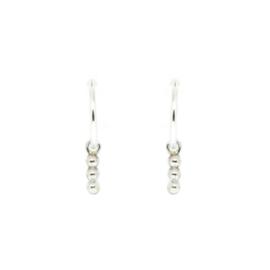 Zilveren creolen beads