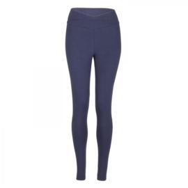 Yamadhi Basic Crossed Waist Leggings Dark Blue