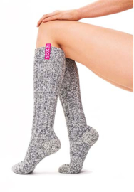 SOXS - Knee High - Grey Wool with Bubblegum Label  (Woman's) 37-41
