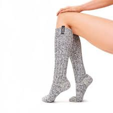 SOXS - Knee High - Grey Wool with Jet Black Label  (Woman's) 37-41