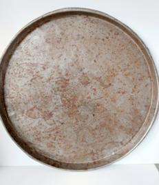 Grote ronde platte schaal