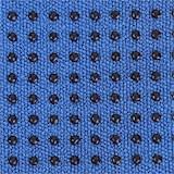Yoga handdoek PVC antislip blauw
