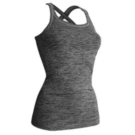 Yoga singlet M met elegante gekruiste bandjes en voldoende ondersteuning voor kleinere en middelgrote cupmaten