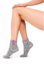 SOXS - Low  - Grey Wool with Bubblegum Label  (Woman's) 37-41