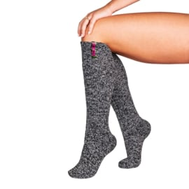 SOXS - Knee High - Dark Grey Wool with Spicy Pink Label  (Woman's) 37-41