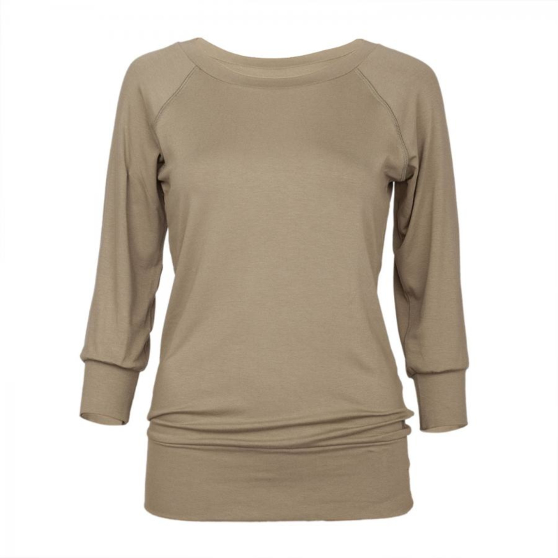 Yamadhi ¾ Sleeve Yoga Top Burnt Olive