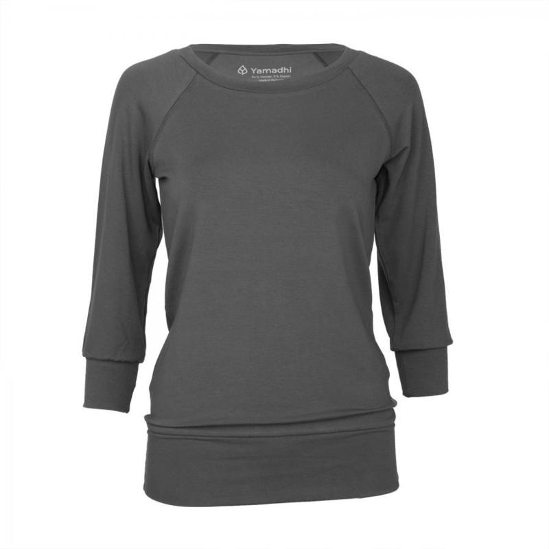 Yamadhi ¾ Sleeve Yoga Top Antracite