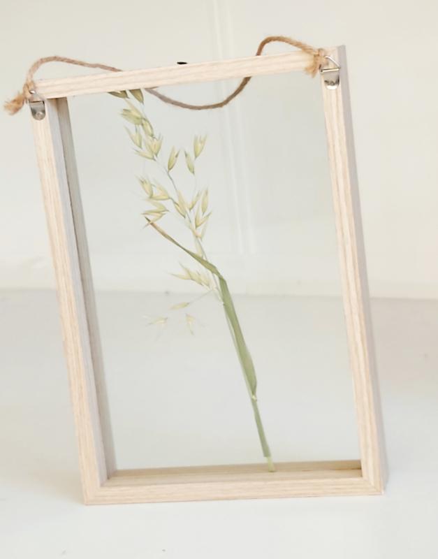 Houten fotolijst met dubbel glas