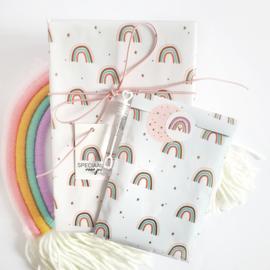 Cadeauzakjes Over the rainbow pink | 5 stuks