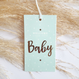 Cadeaulabel Birds and the Bees Welcome Baby Blue | 1 stuk