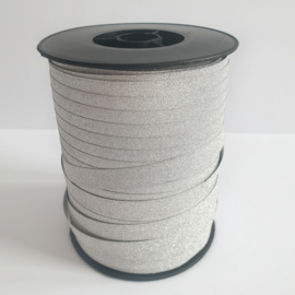 Glitterlint 10mm zilver | 5 meter
