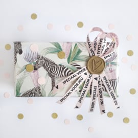 Cadeaupapier Jungle zebra | 2 meter