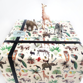 Cadeaupapier Jungle animals | 2 meter