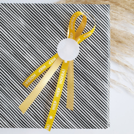 Krullint paperlook okergeel - Hiep Hiep Hoera | 5 meter