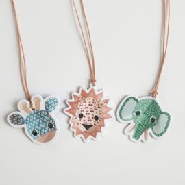 Papertags Studio Ditte wild animals | 3 stuks