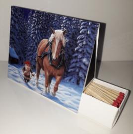 Lucifersdoosje 'trekpaard in donker'