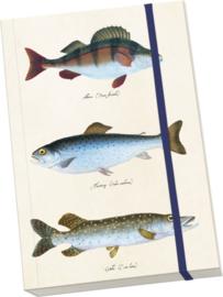 Notitieboek A5 'vissen'