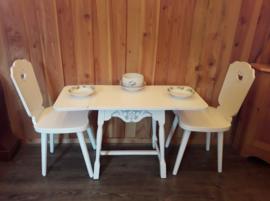 Zweeds klaptafeltje met 2 stoeltjes
