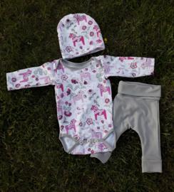 Babyset 'dala' roze