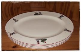 Platte serveerschaal 'tomte'