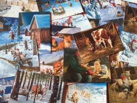 Kerstkaarten assortiment Bergerlind (10 stuks)