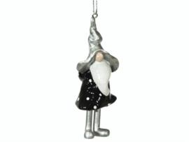 Kerstboomhanger 'tomte zilver'