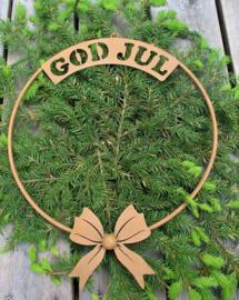 'God jul' krans