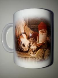 Beker  'tomte met paard'