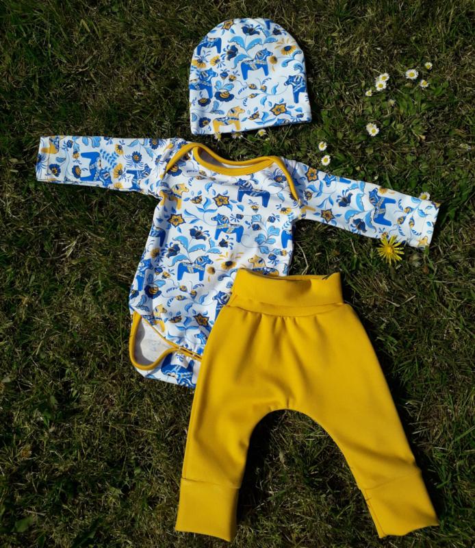 Babyset 'dala' geel