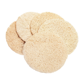 Loofah peeling pads