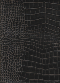 Zwart Crocoprint (9095)