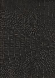 Vintage Crocoprint Zwart (9004)