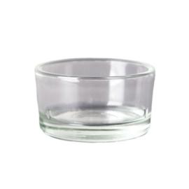 Glazen houder theelichtjes