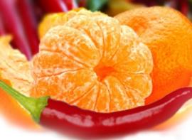 Juicy Orange with Red Chili