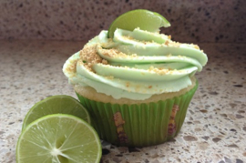 Lime Frosted Cupcake