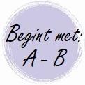 Geur begint met: A - B