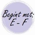 Geur begint met: E - F