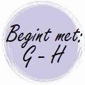 Geur begint met: G - H
