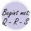 Geur begint met: Q - R - S