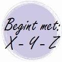Geur begint met: X - Y - Z