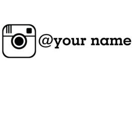 Instagram Logo + Naam