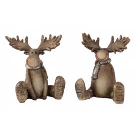 Moose zit h = 8cm, 2- maal geassorteerd