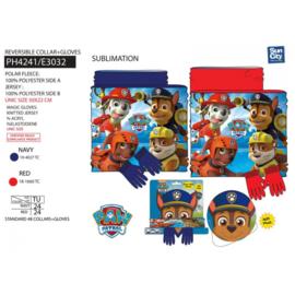 Paw Patrol - set 2 delen & handschoenen kraag
