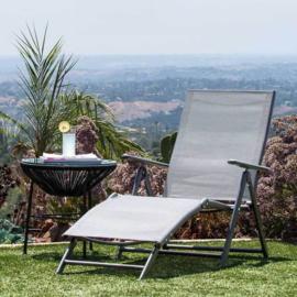 Comfortabele zonnebank, kantelbaar en verstelbaar