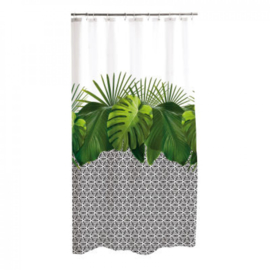 douchegordijn polyester 180 * h200cm grafische jungle