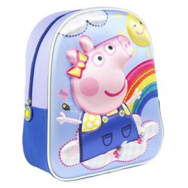 Peppa Pig - kinderrugzak 3d, blauw   Nieuw